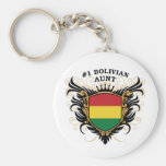 Number One Bolivian Aunt Keychain