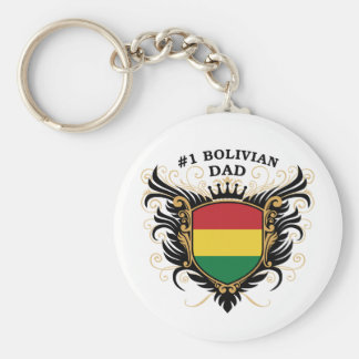 Number One Bolivian Dad Keychain