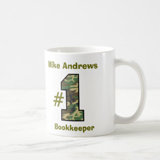 Number One Bookkeeper or Any Specialty V24 Classic White Coffee Mug