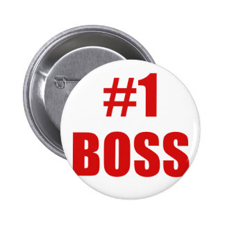 Number One Boss Pinback Buttons