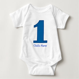 number one boy, Child's Name Baby Bodysuit