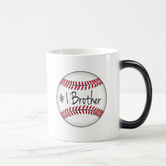 Number One Brother on Baseball Magic Mug