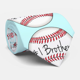 Number One Brother on Baseball Tie