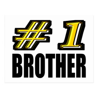 Number One Brother Postcard