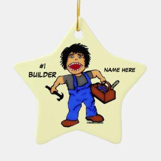 Number One Builder Ceramic Ornament