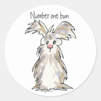 Number One Bun - Cartoon Rabbit Sticker