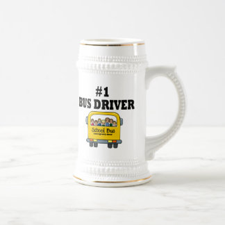 Number One Bus Driver 18 Oz Beer Stein
