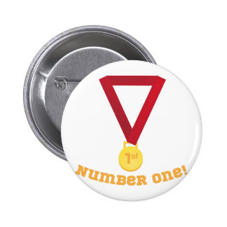 Number One 2 Inch Round Button