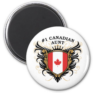 Number One Canadian Aunt 2 Inch Round Magnet