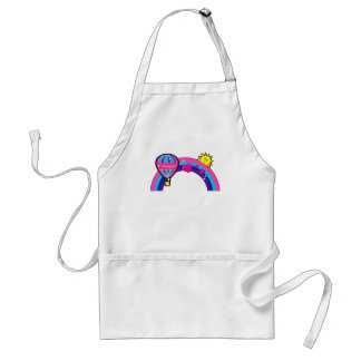 Number One Caregiver with Balloon and Rainbow Adult Apron