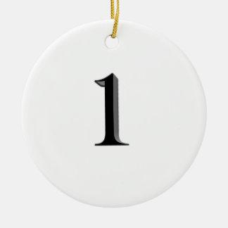 Number one ceramic ornament