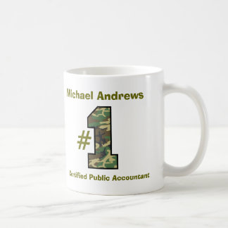 Number One Certified Public Accountant V55 Classic White Coffee Mug