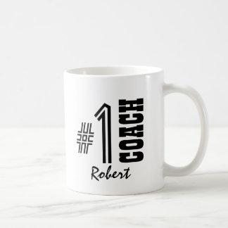 Number One COACH Black and White A01 Coffee Mug