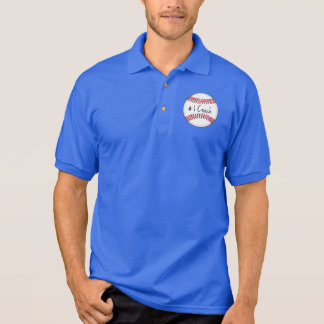 Number One Coach on Baseball Polo Shirt