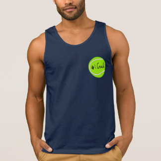 Number One Coach on Tennis Ball Tank Top