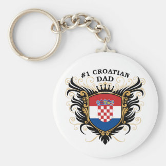 Number One Croatian Dad Keychain