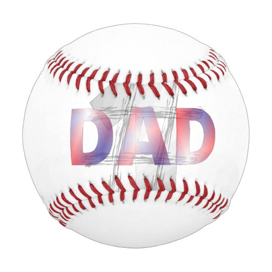 Number One Dad baseball