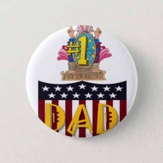 Number One Dad Button