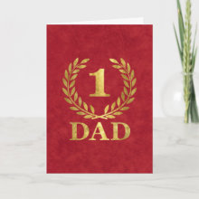 Number One Dad Card - Happy Father's Day!