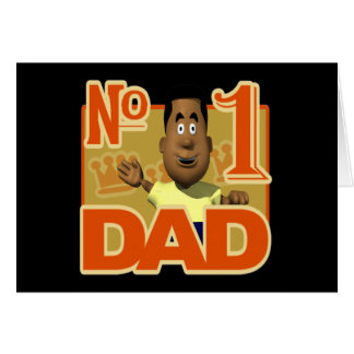 Number One Dad Greeting Cards