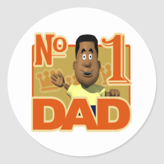 Number One Dad Classic Round Sticker