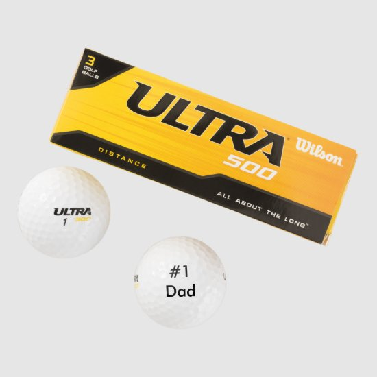 Number One Dad Father's Day Gift Golf Balls