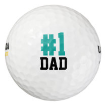 Number One Dad Father's Day Golf Balls