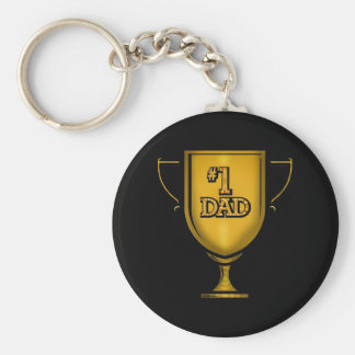 Number One Dad Gifts For Him Basic Round Button Keychain
