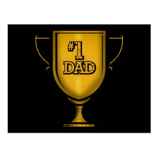 Number One Dad Gifts For Him Postcard