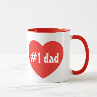 number one dad goblet mug