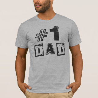 Number One Dad Grunge Jersey T-Shirt