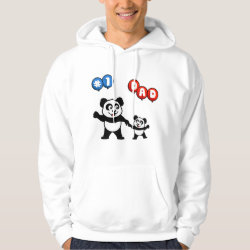 Men's Basic Hooded Sweatshirt with Number One Dad design