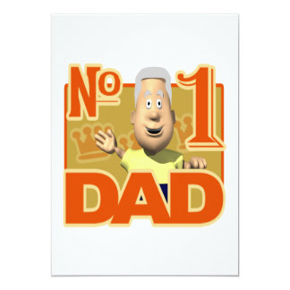 Number One Dad 5x7 Paper Invitation Card