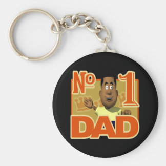 Number One Dad Keychain