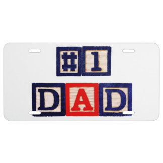 Number One Dad License Plate