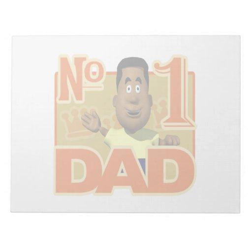 Number One Dad Memo Pad