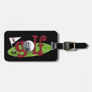 Number one Dad/Mom Personalized Gift for Golfers Tag For Bags
