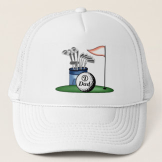 Number one Dad/Mom/Son... Personalized Golf Trucker Hat