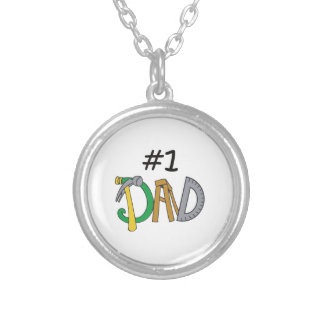 NUMBER ONE DAD ROUND PENDANT NECKLACE