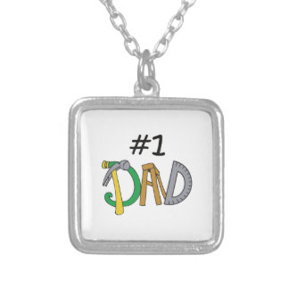 NUMBER ONE DAD SQUARE PENDANT NECKLACE