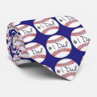 Number One Dad on Baseball Tie