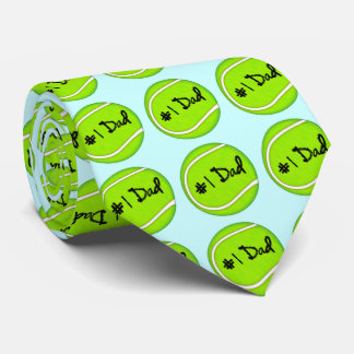 Number One Dad on Tennis Ball Tie