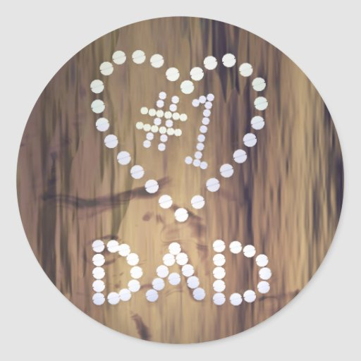 Number One Dad on Wood-look Background Classic Round Sticker