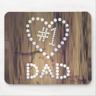 Number One Dad on Wood Mouse Pad