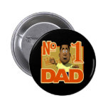 Number One Dad Pinback Buttons