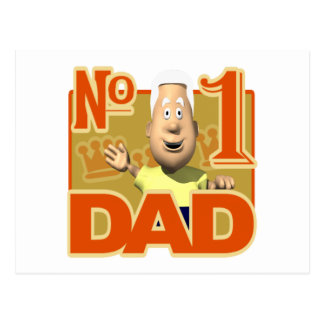 Number One Dad Post Cards