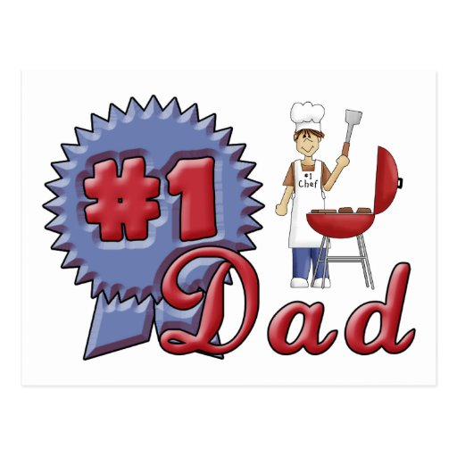 Number One Dad Postcards