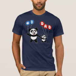 Men's Basic American Apparel T-Shirt with Number One Dad design