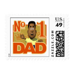 Number One Dad Stamps