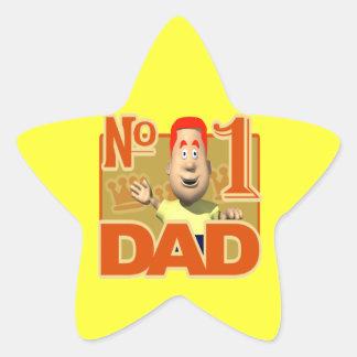 Number One Dad Star Sticker